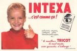 BUVARD  INTEXA C'EST COMME CA  TRICOT EDITION LACROIX LEBEAU CACHET AU DOS A.PERRIN LYON - Textile & Vestimentaire