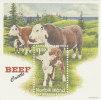 Norfolk Island......:  1997 Beef Cattle Souvenir Sheet MNH - Norfolk Island