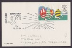 United States Postal Stationery Ganzsache Entier 13 C Olympic Games Olympic Torch Station 23.6.1984 Denver CO - Ganzsachen