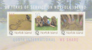 Norfolk Island......:    2004 Quota International Souvenir Sheet MNH - Norfolk Island