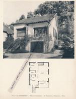 """Planche 1952 (photo Et Plan) : Villa """"La Musardière"""", Rouillon-Chartrette (77, Seine-et-Marne) - Architecture"""