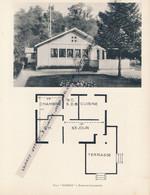 """Planche 1952 (photo Et Plan) : Villa """"Ramona"""", Rouillon-Chartrette (77, Seine-et-Marne) - Architecture"""