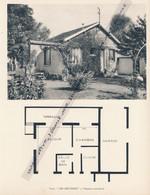"""Planche 1952 (photo Et Plan) : Villa """"Les Bruyères"""", Verneuil-sur-Seine (78, Yvelines) - Architecture"""