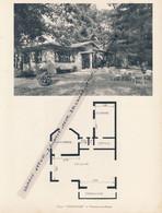 """Planche 1952 (photo Et Plan) : Villa """"L´Escapade"""", Verneuil-sur-Seine (78, Yvelines) - Architecture"""