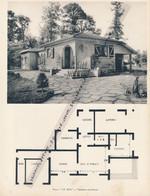 """Planche 1952 (photo Et Plan) : Villa """"Le Mas"""" à Verneuil-sur-Seine (78, Yvelines) - Architecture"""