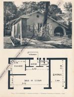 """Planche 1952 (photo Et Plan) : Villa """"La Clairière"""" à Verneuil-sur-Seine (78, Yvelines) - Architecture"""