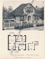 """Planche 1952 (photo Et Plan) : Villa """"L´Escapade"""" à Mézy, Par Meulan (78, Yvelines) - Architecture"""