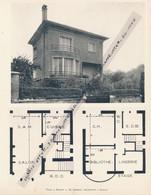Planche 1952 (photo Et Plan) : Villa à Sceaux (92, Hauts-de-Seine) - Architecture