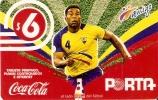 TARJETA DE ECUADOR DE COCA-COLA Y FUTBOL (FOOTBALL) (COKE) - Publicidad