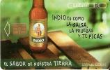 TARJETA DE MEJICO DE LA CERVEZA INDIO (BEER) - Publicidad