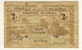 NOUVELLE CALEDONIE  -  NEW CALEDONIA  -  2  Francs 1943  -  P.56 - Nouvelle-Calédonie 1873-1985