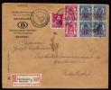 SUPERBE LETTRE PHILATELIQUE REC. -S.N.C.B. BRUXELLES Vers NEDERBRAKEL - 1946 - SERVICE 28 / 29 / 40 - ABSCENT A LA MAIN - Officials