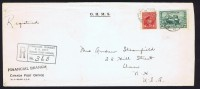 1943  Registered Letter To The USA  Sc 254, 259 (14 ¢ Tank) - Cartas