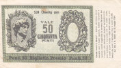 BUONO / BALOON - GUM - Biglietto Premio Da 50 Punti - 1954 - [ 2] 1946-… : Républic