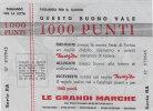 MARZOTTO / BUONO DA 1000 PUNTI - [ 2] 1946-… : Repubblica