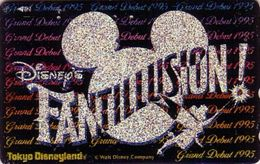 Télécarte Métal ARGENTJapon / 110-168442 - DISNEY - FANTILLUSION FEE - Japan SILVER Phonecard - Disney