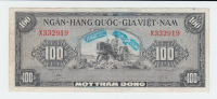 SOUTH VIETNAM 100 DONG 1955 VF+ P 8A 8 A - Viêt-Nam