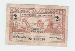 New Caledonia 2 Francs 1943 AVF Banknote P 56b  56 B - Nouméa (New Caledonia 1873-1985)