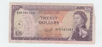 East Caribbean States 20 Dollars 1965 VG P 15h  15 H - Caraïbes Orientales
