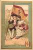 CHROMO AU BON MARCHE 12 X 8 CM  ESPAGNE ET DRAPEAU LITHO MINOT - Au Bon Marché