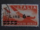 """ITALIA Repubblica Aerea-1947- """"Democratica Sopr."""" £. 6 Su 3,20 US° (descrizione) - Posta Aerea"""