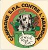 SPA  CAMPAGNE CONTRE L' ABANDON - Stickers