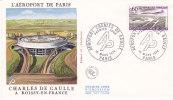 FRANCE 1974 FDC AEROPORT CHARLES DE GAULLE - 1970-1979