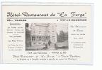 Thy Le Baudhuin (Florennes ) Hotel Restaurant De La Forge Publicité - Belgique