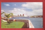 P1058 Bermuda Bermudes Somers Islands, Ship Queen Of Bermuda . Non Circulé. Gorham - Bermudes