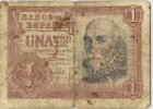 Billete 1 Pesetas 1953. Marques De Santa Cruz, Serie 1F - [ 3] 1936-1975 : Régence De Franco