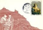 CARTE MAXIMUM  1982  DENTELLIERE#   Puy En Velay   #AUVERGNE #EXPOSITION INTERNATIONALE DE DENTELLE - Non Classés