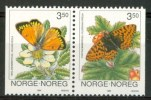 1994 Norvegia Farfalle Butterflies Schmetterlinge Papillons Set MNH** Fo149 - Nuovi