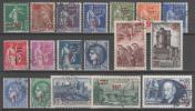 N° 476 à 493 Avec Oblitération Cachet à Date  TB - Used Stamps
