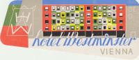 HOTEL WESTMINSTER VIENNA     ///// - Etiketten Van Hotels