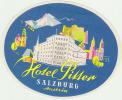 HOTEL  PITTER SALZBURG     ///// - Etiketten Van Hotels