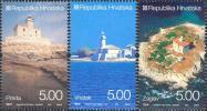 CROATIA - Set 3 Stamps - LIGHTHOUSES - 2008 - Croatie