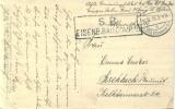 Feldpost 1.WK EISENB. BAU COMP: 15  1916 Osten - Deutschland