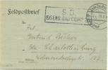 Feldpost 1.WK  EISENB. BAU-COMP. 20  1917 - Deutschland