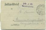 Feldpost 1.WK  29. I.D. BAUABTEILUNG  1916 - Deutschland