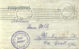 Feldpost 1.WK  FESTUNGSHAUPTLAZARETT ULM  1917 - Deutschland