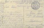 Feldpost 1.WK  1. Landst. Inf. Ers. Batl. GENT Maschinen-Gewehr Kompagnie  1915 - Deutschland