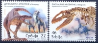 SRB 2009-328-9 DINO, SERBIA, 1 X 2v, MNH - Serbien