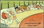 """""""When Father Says 'Turn', We All Turn"""",  Posted 1903 (good """"LONDON.W."""" Cds). - Satirical"""