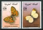 1985 Marocco Farfalle Butterflies Schmetterlinge Papillons Set MNH** Fo155 - Maroc (1956-...)
