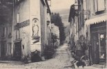 Cpa Labastide-Rouairoux. Carrefour De La Place Et Route Du Castel. Carte Molle - France