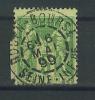 VEND TIMBRE DE FRANCE 5c VERT - JAUNE , CACHET A : ROUEN - BOURSE ( SEINE INFERIEURE ) , PIQUAGE DECALE !!!! - 1876-1898 Sage (Type II)