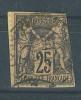 """VEND TIMBRE DE FRANCE N° 97 , ANNEAU DE LUNE DANS LE """" 5 """" !!!! - 1876-1898 Sage (Type II)"""