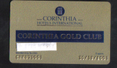 MALTA  - HOTEL GOLD CLUB CARD  (  CORINTIA HOTEL  ) ST'JULIANS MALTA - 2001 - Hotel Keycards