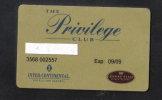 MALTA  - HOTEL GOLD CLUB CARD  (  INTER CONTINETAL HOTEL  ) ST'JULIANS MALTA - 1999 - Hotel Keycards