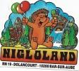 Autocollant, Stickers, Parc D'attraction Nigloland, Bar Sur Aube - Autocollants